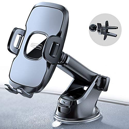 TORRAS Transformable Car Phone Mount, Windshield & Dashboard & Air Vent Cell Phone Holder for Car with Suction Pad for iPhone 11/11 Pro/Pro Max/Xr/Xs/X/Max/7/8, Galaxy S10/S10P Note 10/10P and More