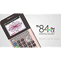 Texas Instruments(R) TI-84 Plus CE Color Graphing Calculator, Rose Gold