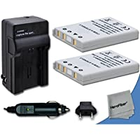 2 High Capacity Replacement Nikon EN-EL5 Batteries with AC/DC Quick Charger Kit Made for Nikon Coolpix P3, P4, P80, P90, P100, P500, P510, P520, P530, P5000, P5100, P6000, S10, 3700, 4200, 5200, 5900, 7900 Digital Cameras