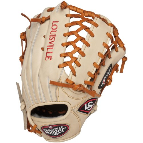 Louisville Slugger 13-Inch FG Pro Flare Baseball Outfielders Gloves, Cream, Right Hand Throw