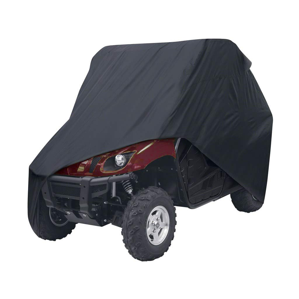 UTV Cover Waterproof Heavy Duty Oxford 114.17'x 59.06' x 74.80',UTV Cover XL with Storage Bag, Protects UTV from Rain,Sun,Dust,Snow,Hail,Dust,Sleet (Black) KING SHOWDEN