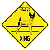 Toy Fox Xing caution Crossing Sign dog Gift