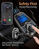 Nulaxy Bluetooth Car FM Transmitter Audio Adapter