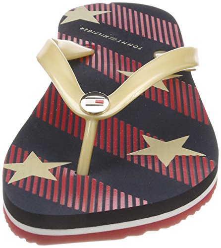 Tommy Hilfiger Zehentrenner »stars And Stripes Beach Sandal«, Blau, Midnight