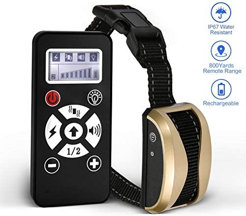 lovely home 2020 New Versions Dog Training Collar with Remote Control Rechargeable and Waterproof Dog Shock Collar with Beep, Vibration and Shock Dog Collar for Small, Medium and Large Dogs