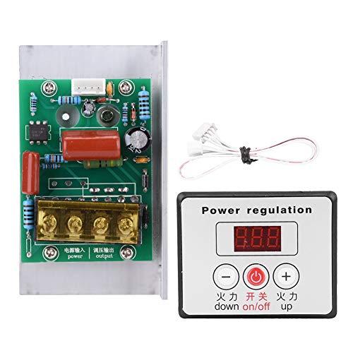 AC 220V 6000W Adjustable SCR Digital Voltage Regulator Electric Motor Speed Control Dimming Dimmer Thermostat Module