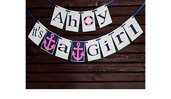 Welcome Home Banner Birth Announcement Nursery Banner Name Banner Baby On Board Banner Nautical Baby Shower Baby Shower Banner Welcome Baby Banner Nautical Banner Sign Garlands Decorative Banners Stationery Party Supplies