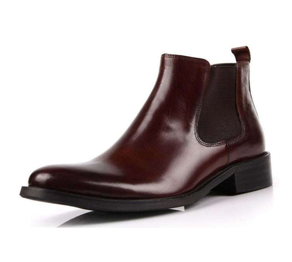GLSHI Herren Einzel Schuhe Neue Kleid Schuhe Die Lederschuhe Arbeitsschuhe Trend Kurze Stiefel