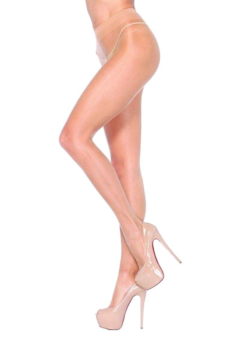 Leg Avenue womens Sheer Waist Support Pantyhose Black One Size 090722001 LA-0907/BLK/OS