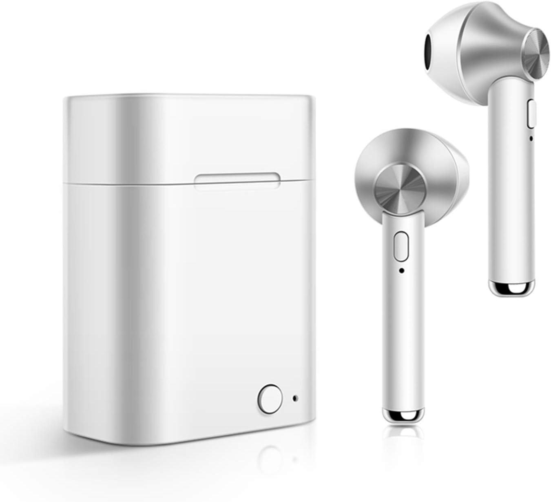 Auriculares Bluetooth, iAmotus Auriculares Inalámbricos Bluetooth Mini Twins Estéreo In-Ear Bluetooth 5.0 con Caja de Carga Portátil Y Micrófono Cascos Inalámbricos Deportivos para iPhone y Android