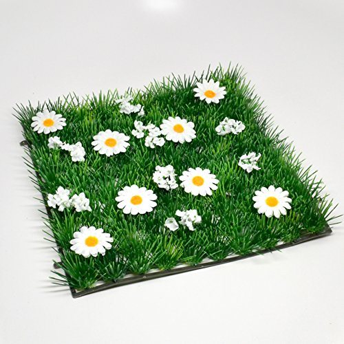 (Pixie Glare Artificial Grass Mat for Fairy Garden with Mushrooms, Flowers and Plants (Alba Garden))