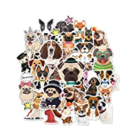 HaokHome S-004 86pcs Cute Cartoon Dog Stickers for Teens Kids Cars Stickers for Water Bottles Laptop Scrapbooking Firefighters Hydro Flask Stickers Vsco Stickers Wall Stickers Room Decor