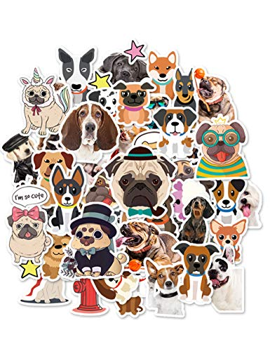 HaokHome 86pcs Cute Cartoon Dog Laptop Stickers for Kids Decor Kindergarten Classroom Water Bottle Computer Notebook Car Skateboard Motorcycle Bicycle Luggage Guitar Bike -