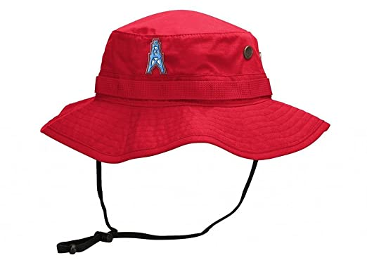 Amazon.com  Houston Oilers Mitchell   Ness Boonie Bucket Hat (S M ... 7d02806a2