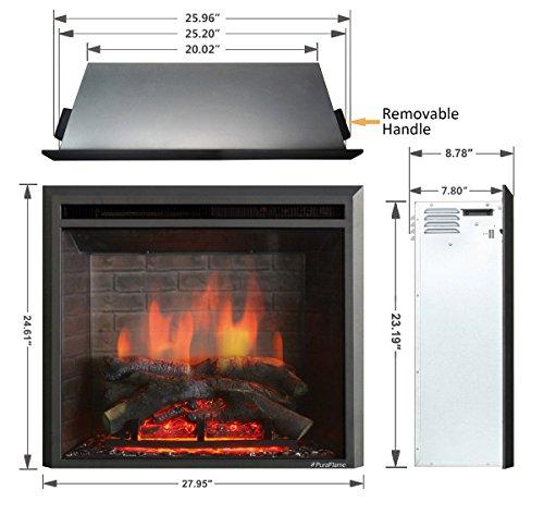 PuraFlame Western Electric Fireplace Control, Black