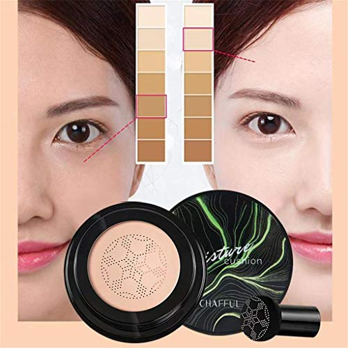 kloiu96 Air Cushion Mushroom Head CC Cream Concealer Moisturizing Makeup BB Cream for Perfect Coverage & Moisture, Easy to Absorb Without Stimulation - Perfect Skin (#2)
