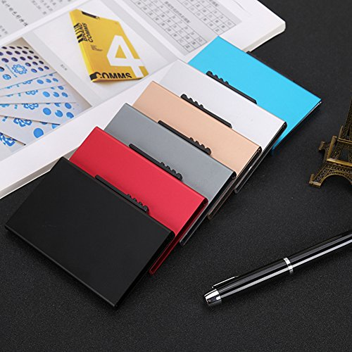 Business Name Case Card Professional Holder Wallets Metal Black Card Smart RFID Card Silver Business Holder rTrq1wI