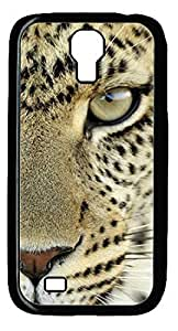 The Angry Tiger DIY Hard Shell Black Best Designed Samsung Galaxy S4 I9500 Case