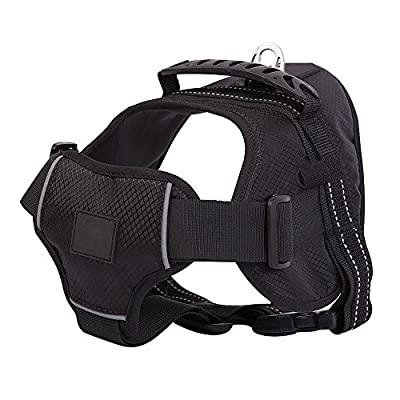 Sport Dog Harness No-Pull Pet Dog Vest Adjustable Dog Harnesses, Outdoor Dog Training Harness for Medium and Large Dogs (Leash and Torch Excludes)