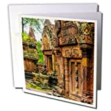 3dRose Danita Delimont - Travel - Banteay Srei temple complex, Angkor, Siem Reap, Cambodia - 12 Greeting Cards with envelopes (gc_277076_2)