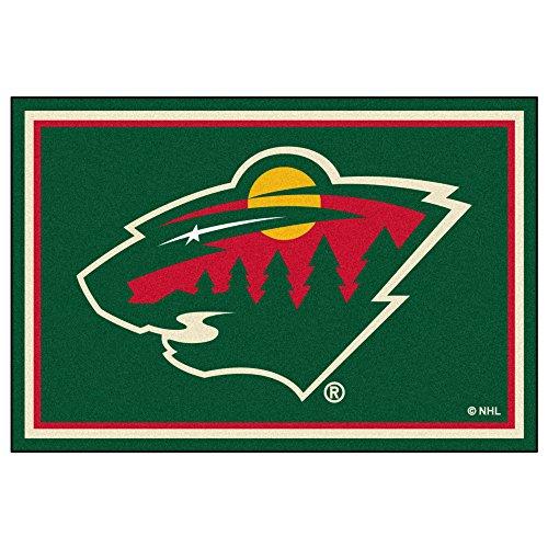 FANMATS NHL Minnesota Wild Nylon Face 5X8 Plush Rug ()