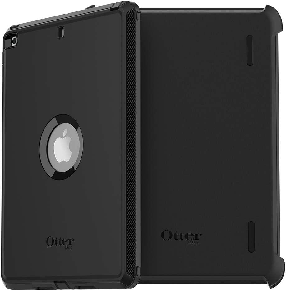 "OtterBox DEFENDER SERIES Case for iPad 8th & 7th Gen (10.2"" Display - 2020 & 2019 version) - Bulk Single-pack (1 unit) - BLACK"