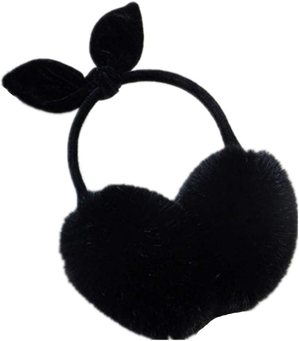 Women Rabbit Ear Faux Rabbit Fur Earmuffs Soft Warmer Earwarmers