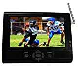 "Supersonic 7"" Portable LCD TV with ATSC Digital Tuner, AC/DC Adapter and Rechargeable Battery SC-195D"