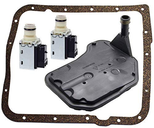 Price comparison product image 4L60E Shift Solenoid and 4L60E Transmission Filter Gasket kit for GM Chevrolet Buick Replace 24230298 24208576 by TOPEMAI