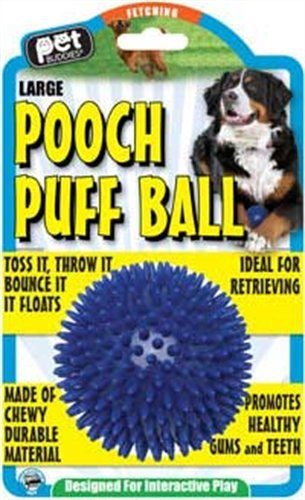 Pet Buddies PB1141 Pooch Puff Ball Large Dog Toy, My Pet Supplies
