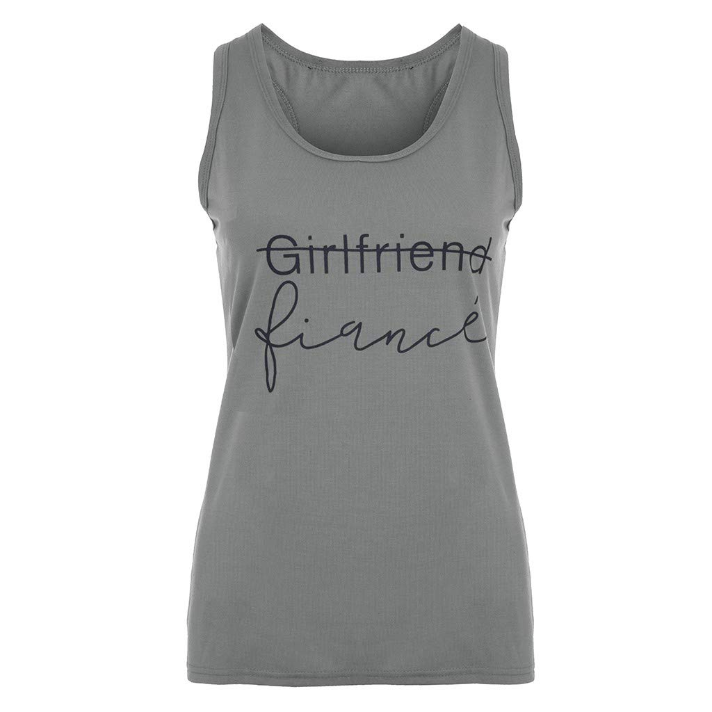RAINED-Women's Loose Fit Tank Tops Workout Cool Relaxed Regular Plus Size Vest Yoga Tops Active Sport Printed Tanks Gray