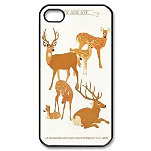 Cute deer Hard Plastic Back Case Cover For For Iphone 4,4S Case color9