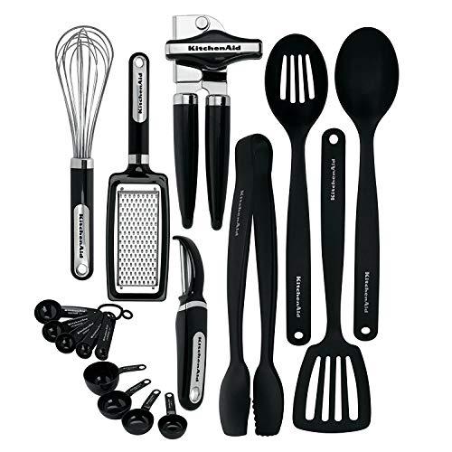 KitchenAid KC448BXOBA 17-Piece Tools and Gadget Set, Black (Renewed)