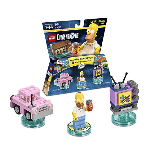 The Simpsons Homer Simpson Level Pack + Bart Simpson + Krusty + Scooby Doo Team Pack - Lego Dimensions (Non Machine Specific) by WB Lego (Image #1)