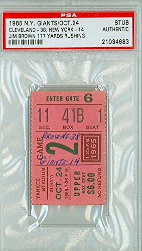 reputable site f945f 8b957 1965 New York Giants Ticket Stub vs Cleveland Browns Jim ...
