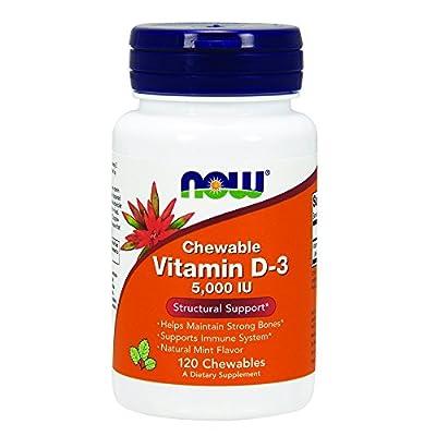 NOW Vitamin D-3 5,000 IU,120 Chewables