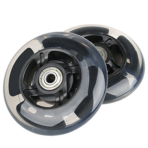Kutrick 2 Scooter Wheels 100mm pair LED Scooter With Abec 9 Bearings for RAZOR SCOOTER 100mm A, A2 A4, Spark, Spark 2.0 and A Sweet Pea and all 100mm pro (Pro Model Scooter)