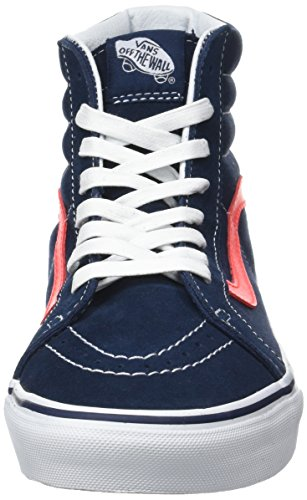 5688b34e524f61 Vans Herren UA Sk8-Hi Reissue Sneaker Blau (Neon Leather Dress Blues neon  ...