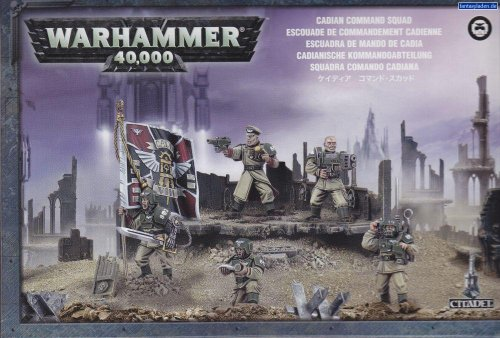 Cadian Command Squad Plastic Warhammer 40K by Games Workshop (Warhammer Guard 40k Imperial)