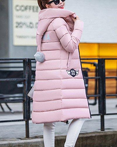 À Manteau Chaud Légère Veste Longues Doudoune Capuche Duvet Ultra Pink Light Blouson Femme 6w0xY54R