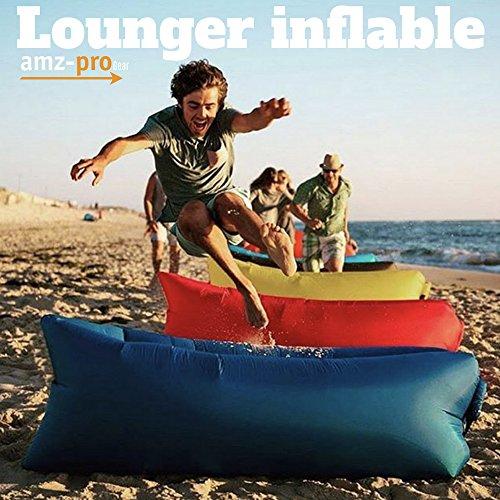 Lounger inflable con Lámpara LED para patio, alberca, playa, camping - campismo. Puff, camastro, sillón, silla, sofá,...