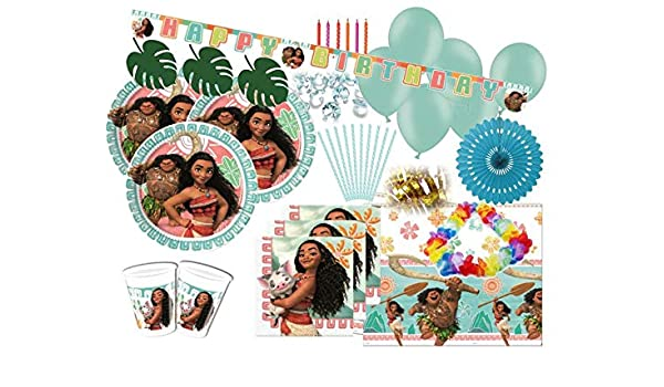 100 Piezas Disney Vaiana Party Set Decorativo para 8 niños ...