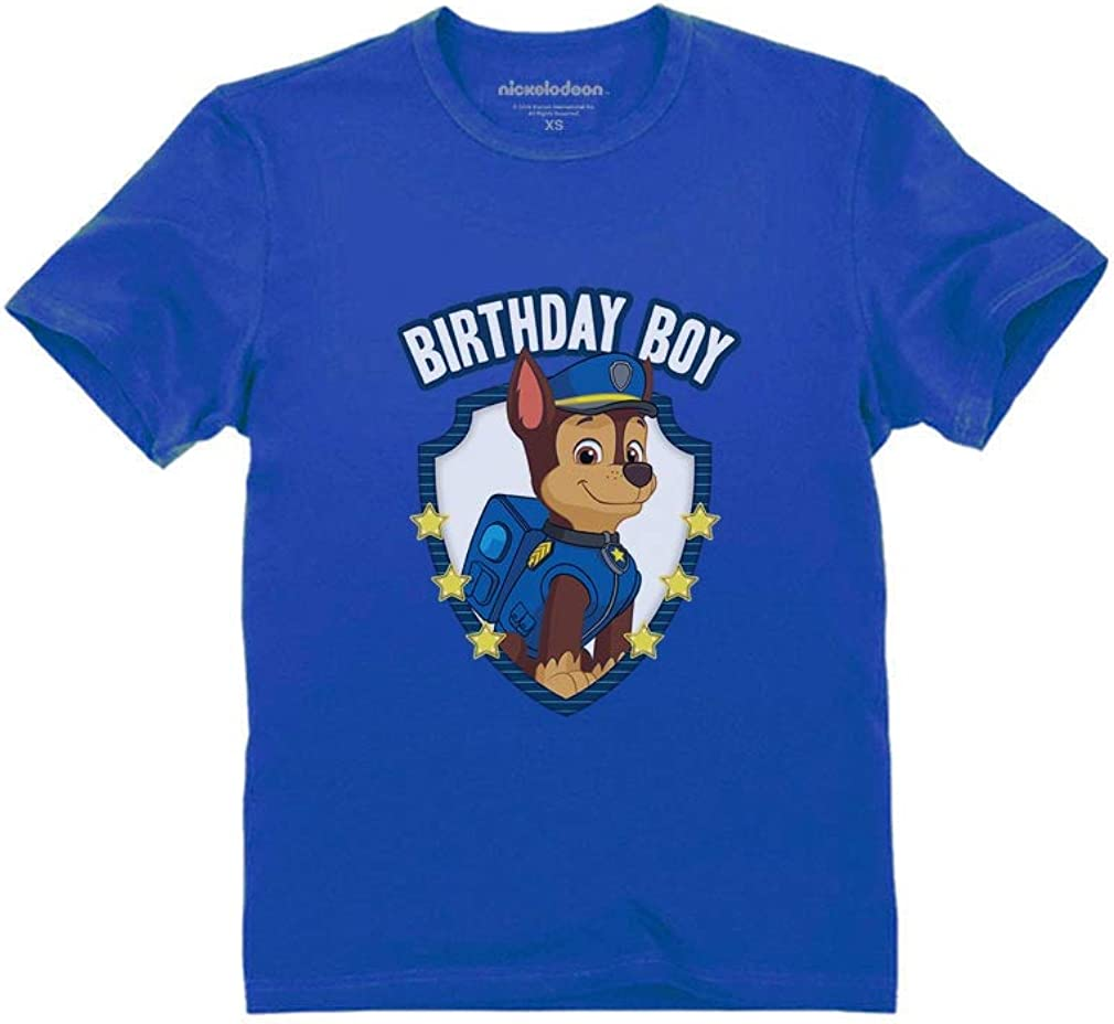 Official Paw Patrol Chase Boys Birthday Toddler Kids T-Shirt