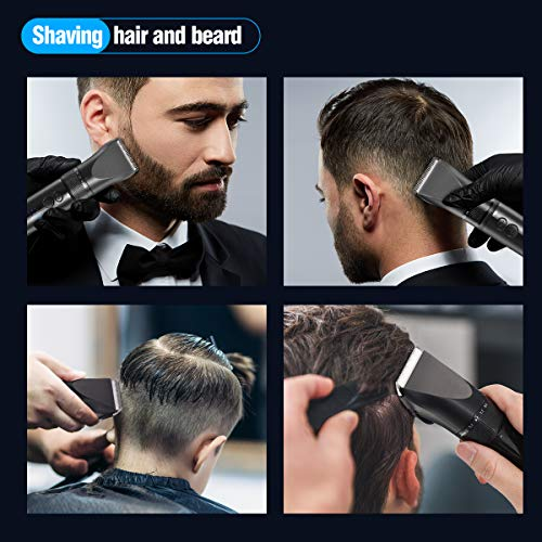 Hair Clippers, Professional Hair Clipper Cordless Clippers, Liaboe Hair Trimmer Beard Shaver Electric Haircut Kit, with LED Display, Waterproof, USB Rechargeable for Men and Family Use