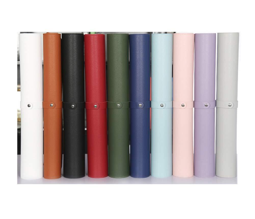 antiscivolo per ufficio e scuola Tappetino per mouse multifunzione di alta qualit/à in pelle PU 65x30cm Nero lavabile utilizzabile su entrambi i lati impermeabile