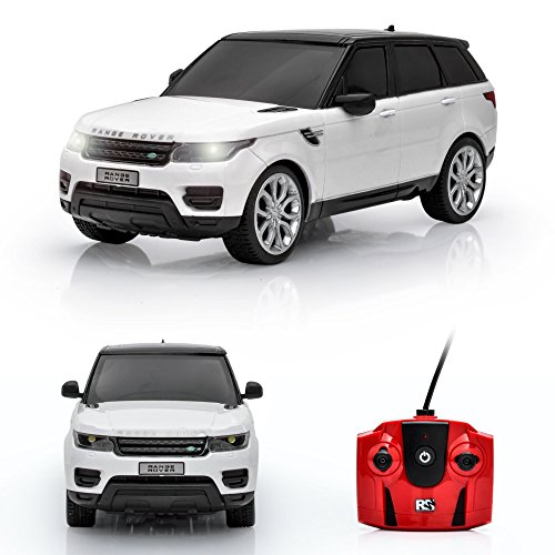 Spire Tech ST-317 RC Car Land Rover Range Sport 2014 Model Remote Control Electric Radio Toy with Working Lights, White, 1:24 Scale