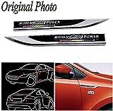 CHAMPLED 2Pcs Great Metal Car Side Fender fit Black MUGEN POWER hot Skirts Knife Type Sticker Badge Emblem For BMW M BENZ AUDI VW VOLKSWAGEN VOLVO JAGUAR