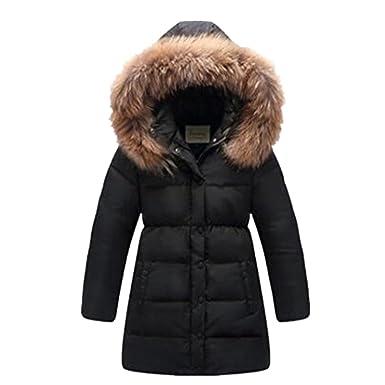 b72b21fba1c0 LJYH Big Girls  Winter Down Parka Thick Hooded Outwear Coat  Amazon ...