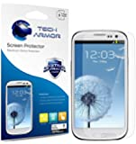 Tech Armor Anti-Glare and Anti-Fingerprint Matte Finish Screen Protectors with Lifetime Warranty for Samsung Galaxy S3 S III