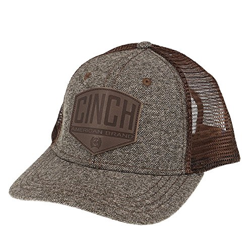 Cinch Men's Snapback Mesh Trucker Hat Brown One Size (Mens Cinch)